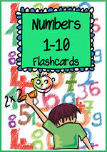 Numbers | 1-10 | Words | Cards