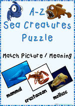 A–Z | Sea Creatures | Inquiry | Puzzle