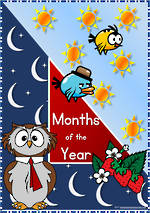 Months of the Year   Zaner Bloser Style   Cards