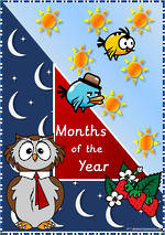 Months of the Year   UK Sassoon Style   Cards