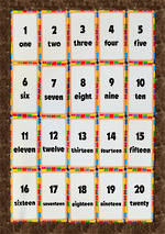 Number Words | One to Twenty | Chart