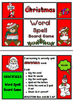 Christmas | Word Spell | Board Game