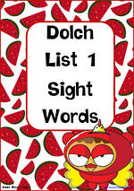 Sight Words |  Dolch Pre-Primer | List 1 | Zaner – Bloser Style Cards