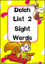 Sight Words |  Dolch Primer | List 2 | Cards | NSW – NZ Print