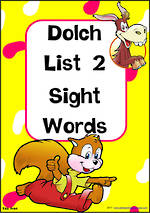 Sight Words |  Dolch Primer | List 2 | Cards | TAS Print