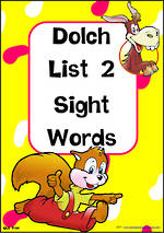 Sight Words    Dolch Primer   List 2   Cards   QLD Print