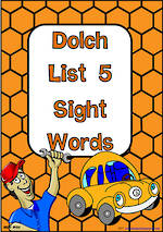 Sight Words |  Dolch Grade 3 | List 5 | Cards | NSW – NZ Print