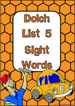 Sight Words |  Dolch Grade 3 | List 5 | Cards | QLD Print