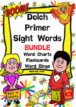 Sight Words |  Dolch Primer | List 2 | BUNDLE | NSW – NZ Print