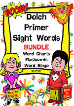 Sight Words |  Dolch Primer | List 2 | BUNDLE | SA Print