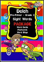 Sight Words |  Dolch:  Pre-Primer, Primer, Grade 1, Grade 2, Grade 3 | PACKAGE | NSW-NZ Print