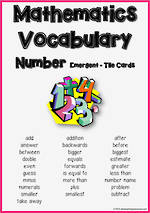 Mathematics Vocabulary | Number | Emergent| Tiles