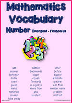Mathematics Vocabulary | Number | Emergent| Cards