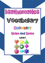 Mathematics Vocabulary | Geometry | Shape & Space| Level  1 | Cards