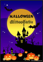 Halloween | Action Verbs | Cards