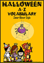 Halloween |  A-Z Vocabulary | Cards |  Zaner-Bloser Style
