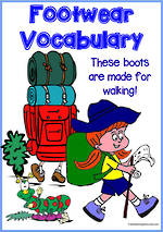 Footwear  | Vocabulary | Bingo | Activities