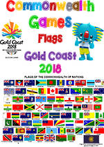 Commonwealth Games | Gold Coast 2018 | Competitors Flags