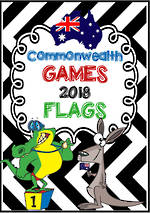 Gold Coast 2018 | Commonwealth Games  | A-Z | Flag Cards | Visual Language & Writing Prompts