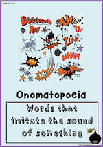 Language Feature | Onomatopoeia | Chart and Cards