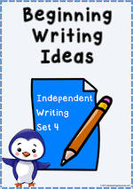 Beginning Writing Ideas | Task Cards | Set 4