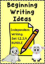 Beginning Writing Ideas | Task Cards | BUNDLE