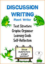Discussion Writing | Learning Intentions and Self Reflection | Fluent Writer
