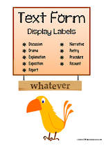 Writing | Text Form | Display Cards