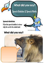 What did you say? | Speech Bubbles | Direct Speech