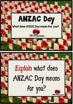 ANZAC  Day| Explain | Reading and Writing Prompts