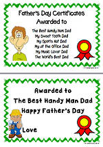 Father's Day | Certificates | Writing Prompt