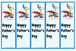 Father's Day | Super Dad| Colour | Bookmark