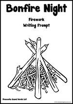 Guy Fawkes Day | Bonfire | Dotted Line | Writing Template