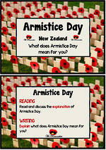 Armistice Day | NZ | Explain| Reading and Writing Prompts