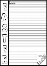 Easter | Writing Template | 12mm Lines