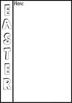 Easter | Writing Template | Blank Page