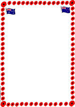 ANZAC Day | Poppy Border Template | Blank Page