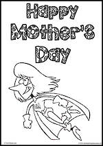 Mother's Day | Writing Template | 14 mm Lines