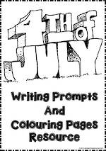 4th of July | Writing Prompt | Colouring | Pages
