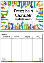 Describe | A  Character | Plan |  Graphic Organiser