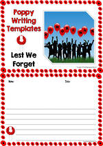 Remembrance Day | Poppy | Writing Templates