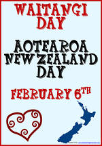 Waitangi Day | NZ Icon | Writing Template | Blank Page