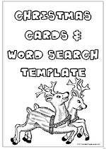 Christmas Card and Word Search Templates
