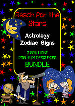 Astrology | Zodiac Signs | Vocabulary | Inquiry | Writing Prompt | BUNDLE