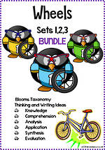 Wheels | Critical & Creative Thinking | Writing Prompts | BUNDLE