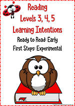 Reading Progressions | Levels 3,4,5 | Learning Intentions