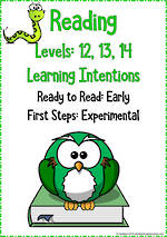Reading Progressions | Levels 12,13,14 | Learning Intentions