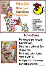 Nursery Rhyme | Pat-a-Cake | Emergent Reading  Activities