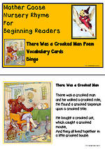 Mother Goose | There Was a Crooked Man | Emergent Readers