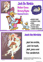 Nursery Rhyme | Jack Be Nimble | Emergent Reading  Activities